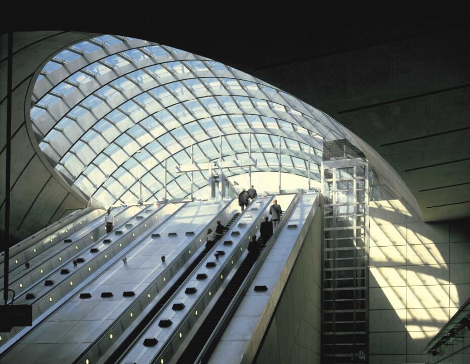 Stazione Della Metropolitana Canary Warf Uscita Te