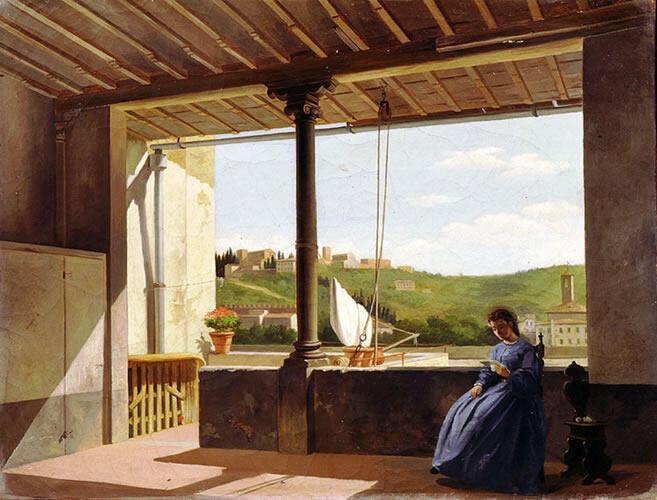 Firenze negli occhi dell 39 artista le vedute della citt - Quadri con finestre ...