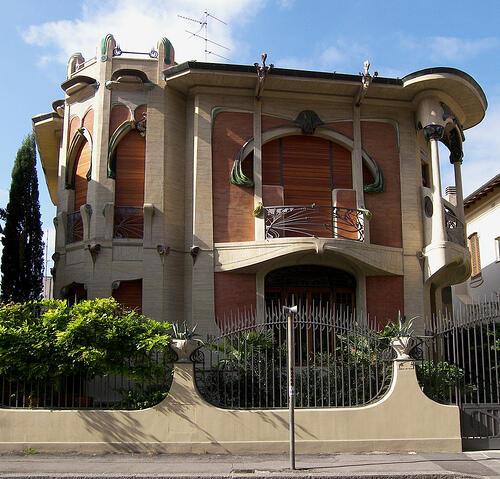 Art nouveau fiorentino le ville e i villini liberty di for Esempi di ville