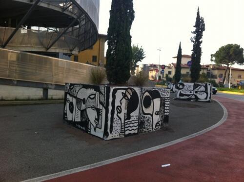graffiti a firenze piazza alberti